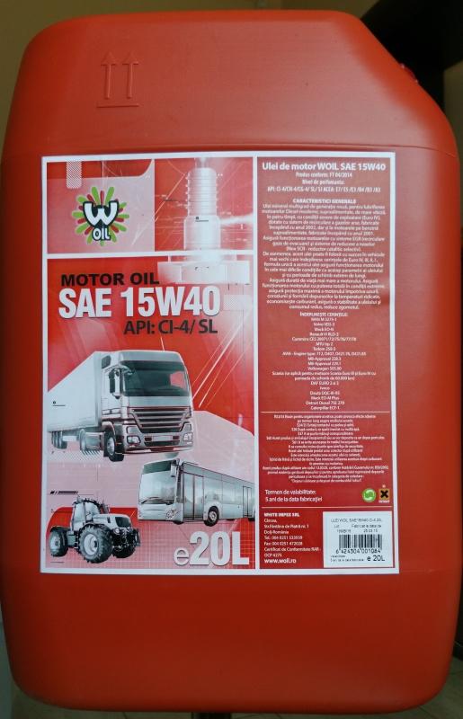 WOIL SAE M15W40 API CI-4 /SL